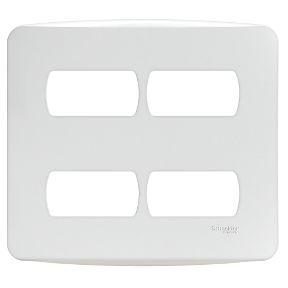Placa 4X4 Miluz 4 Postos Separados Branco - S3B77440 - Schneider Electric