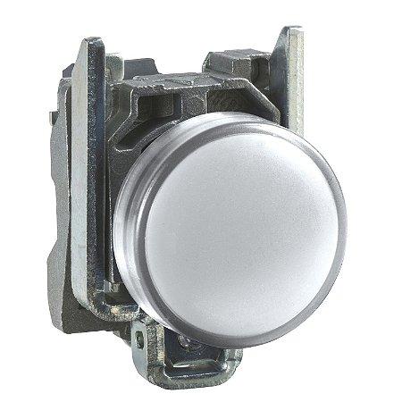 Sinalizador 22mm Metálico com Led Branco 24VCA CC - XB4BVB1 - Schneider Electric