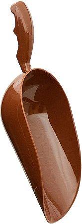 Pá Colher Medidora Brinox Glacê em ABS - Chocolate