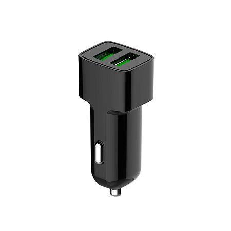 Carregador Veicular C3Tech 2 Portas USB 2,4A UCV-20BK - Preto