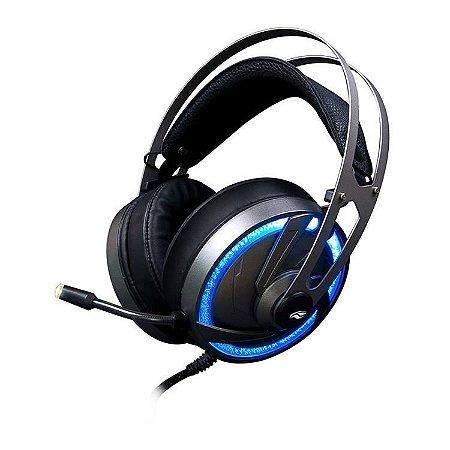Fone de Ouvido Headphone C3TECH Gaming com Microfone Gamer Goshawk PH-G300SI Cinza
