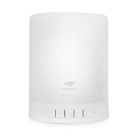 Speaker C3Tech Bluetooth com Lâmpada LED Luminua SP-BL1000WH Branco