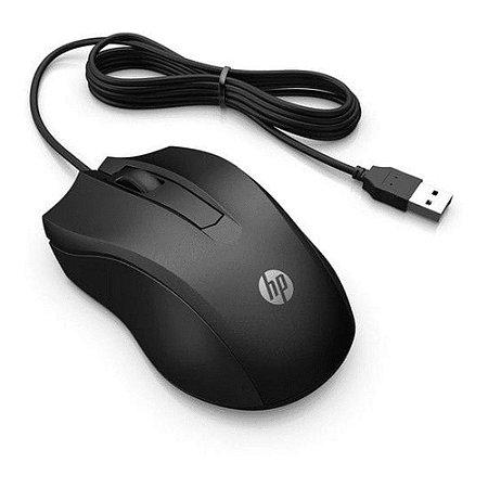 Mouse com Fio Usb 100 1600dpi Preto - HP