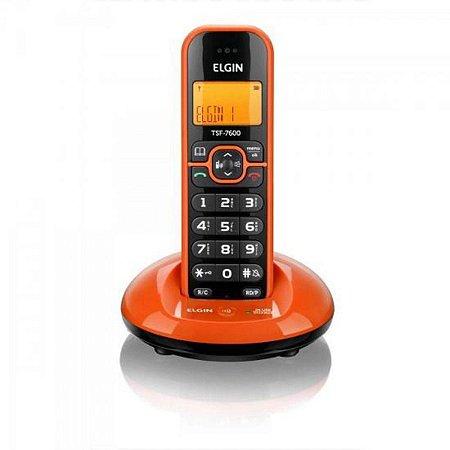 Telefone sem Fio Elgin com Identificador de Chamadas Viva Voz TSF 7600 - Laranja