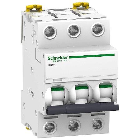 Disjuntor Acti9 IC60N 3P C 25A 440V - A9F74325BR Schneider Electric