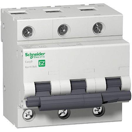 Disjuntor Easy9 3P 80 A Curva C 4,5 KA 230/400 V - EZ9F33380 - Schneider Electric