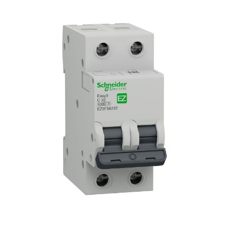 Disjuntor Easy9 2P 32A C 6000A 230V - EZ9F56232BR - Schneider Electric
