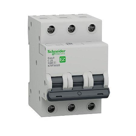 Disjuntor Easy9 3P 25A C 6000A 400V - EZ9F56325 - Schneider Electric