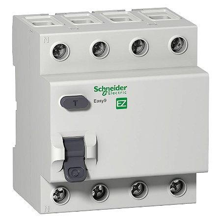 Interruptor Diferencial Residual Easy9 RCCB 4P 40A 30MA Tipo AC 400V - EZ9R06440 - Schneider Electric