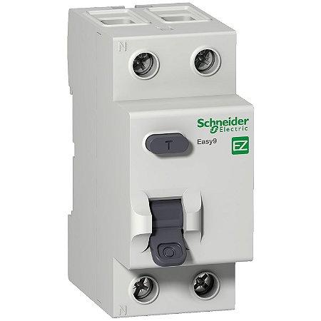 Interruptor Diferencial Residual Easy9 2P 30MA 63A Classe AC 3000A 230V - EZ9R33263 - Schneider Electric