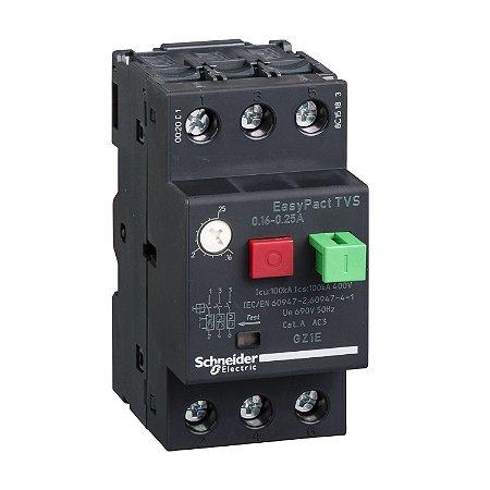 Disjuntor Termomagnético Tesys Gz1E 20-25A Botão Impulsão - GZ1E22 - Schneider Electric