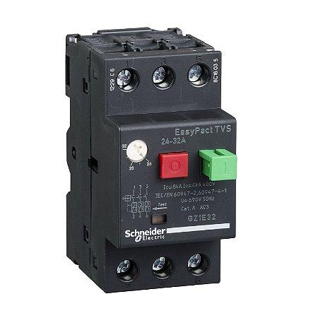 Disjuntor Termomagnético Tesys GZ1E 24-32A Botão Impulsão - GZ1E32 - Schneider Electric