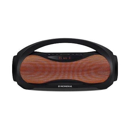 Caixa de Som Bluetooth Mondial Vibe Two NSK-04 30W RMS Preto/Laranja - Bivolt