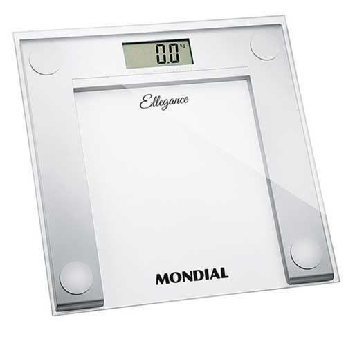 Balança Digital Mondial Ellegance até 150kg Bl-03 Branco e Prata - Bateria