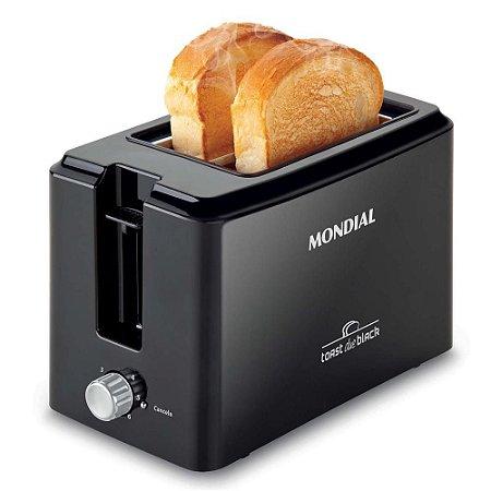 Torradeira Mondial Toast Due Black com 6 Níveis de Tostagem T-05 Preta - 127V