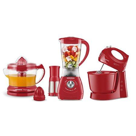 Conjunto Especial Mondial Gourmet Red II KT-70 Vermelho 127V