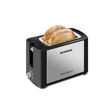 Torradeira Mondial Smart Toast com 6 Níveis de Tostagem T-13 Inox - 127V