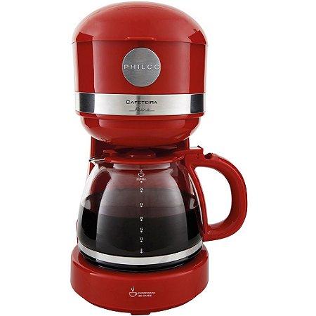 Cafeteira Elétrica 30 Xícaras 800W Vermelha - Retrô PCF38VM - 127V - Philco