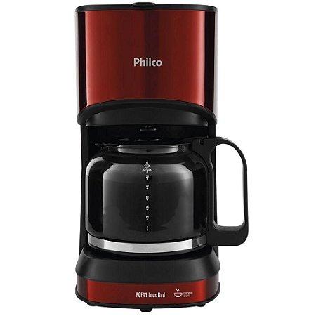 Cafeteira Elétrica Philco 30 Xícaras 800W PCF41 Inox e Vermelho - 127V