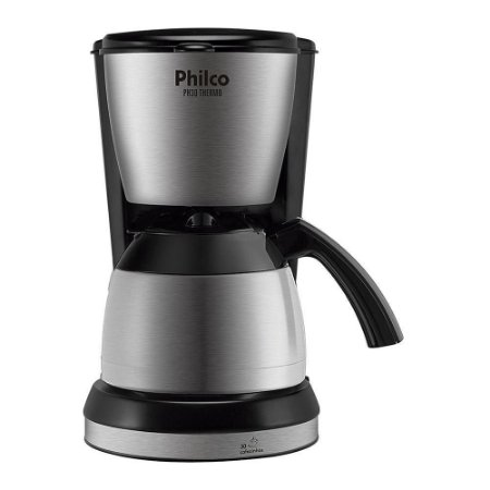 Cafeteira Elétrica Philco Thermo 30 Xícaras 700W PH30 Preto/Prata -127V