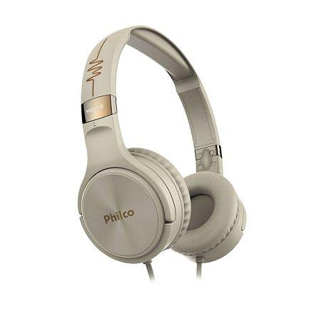 Fone de Ouvido Philco Headphone PFO02G Bege Bivolt