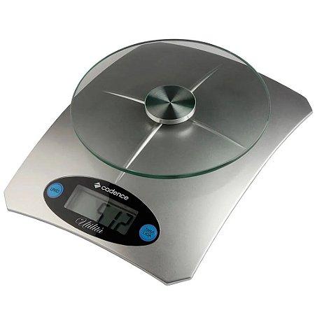 Balança de Alta Precisão até 5kg Prata para Cozinha  - Utilità - Cadence