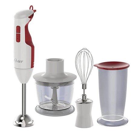 Mixer Oster Delight Função Turbo Branco/Vermelho 127V