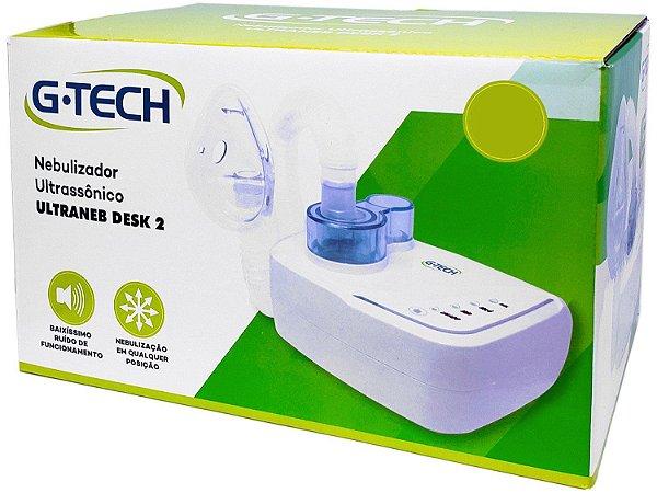 Nebulizador e Inalador Utrassônico G-Tech Ultraneb Desk 2 Branco - Bivolt