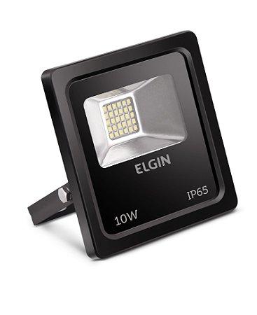 Refletor de Led Elgin IP65 10W 6500K Preto - Bivolt