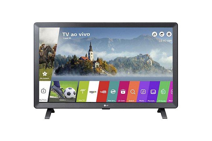 Smart TV Monitor 24 LG 24TL520S HDMI USB Wifi WebOS 3.5 - Preta