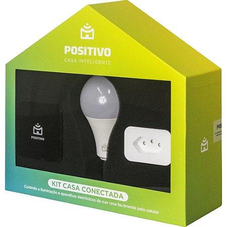 Kit Casa Conectada Positivo Casa Inteligente 2 Smart Lâmpadas Wi-Fi + 2 Smart Plugs Wi-Fi