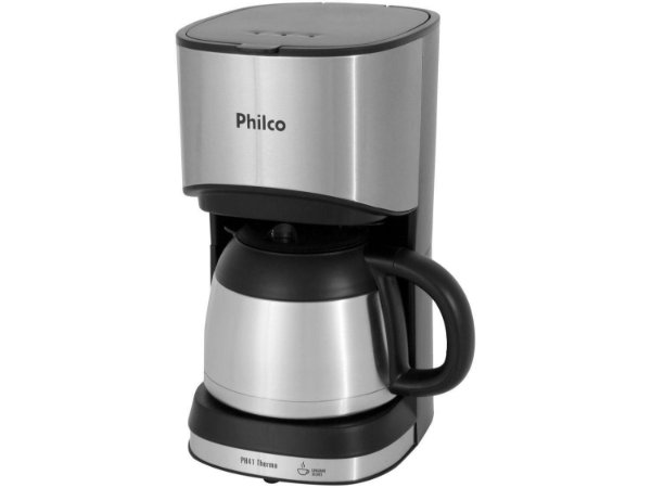 Cafeteira Elétrica Philco Thermo 30 Xícaras 700W PH41 Preto/Prata - 220V