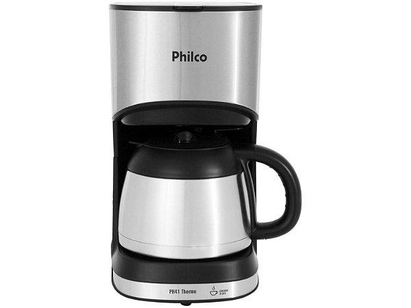 Cafeteira Elétrica Philco Thermo 30 Xícaras 700W PH41 Preto e Prata - 220V