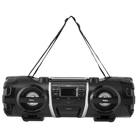 Caixa de Som Bluetooth Philco Boombox PB500BT Preto - Bivolt