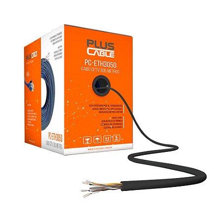 Cabo 8 Vias Plus Cable para CFTV 300 Metros PC-ETH3000BK - Preto