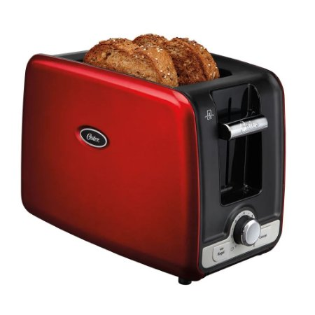 Torradeira Oster Square Retro Toaster com 7 Níveis de Tostagem Vermelha - 127V