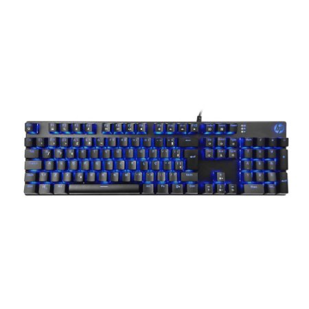 Teclado Gamer HP GK400F Usb ABNT2 Led Azul - Preto