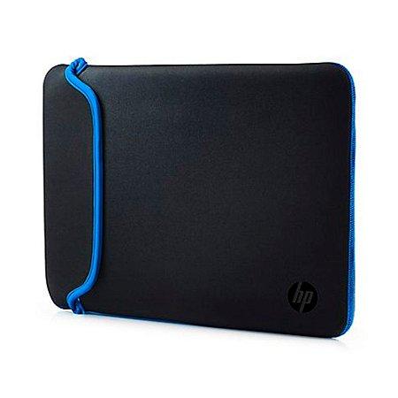 """Capa Sleeve para Notebook HP 14"""" - Preto e Azul"""