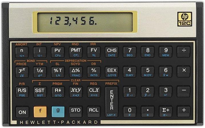 Calculadora Financeira HP 12C Gold - Preta
