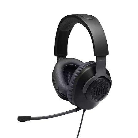 Headset Gamer Com Fio e Microfone Flexível e Removível P3 Preto - Quantum 100 - JBL