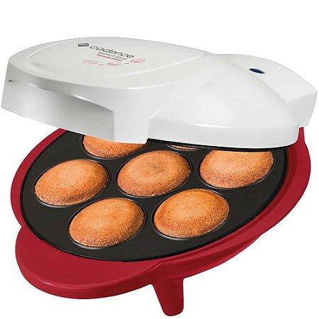 Máquina de Cupcakes Cadence Sweet Cake CUP100 Vermelho e Branco - 127V