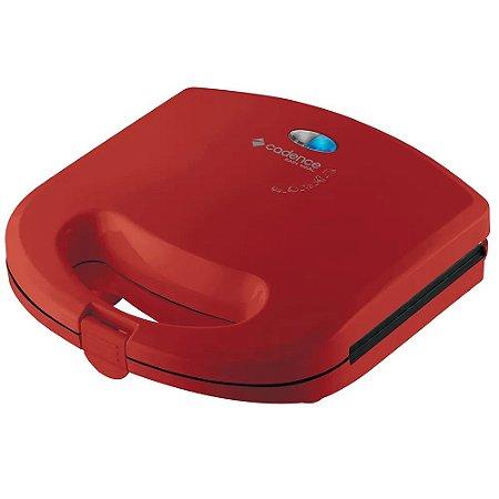 Mini Grill e Sanduicheira Cadence Colors SAN231 Vermelha - 127V