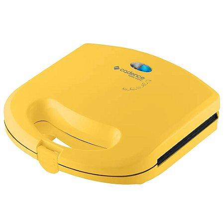 Mini Grill e Sanduicheira Cadence Colors SAN234 Amarela - 220V