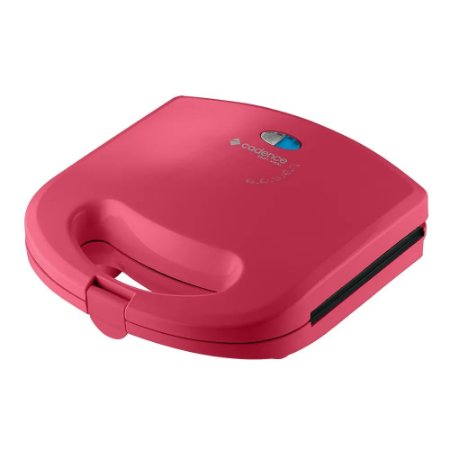 Mini Grill e Sanduicheira Cadence Colors SAN237 Rosa - 220V