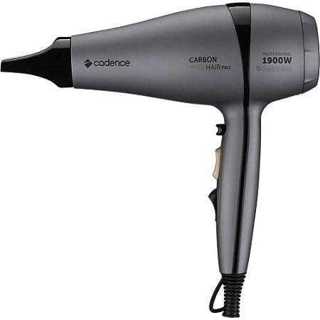 Secador de Cabelo Cadence Profissional Carbon Hair Pro 1900W SEC810 Cinza - 220V
