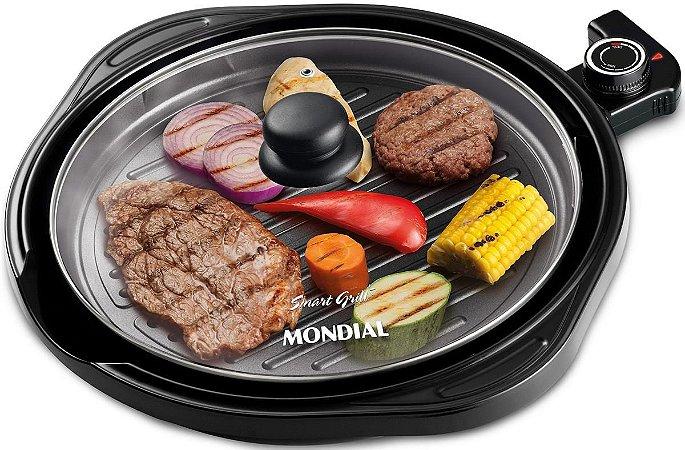 Grill Redondo Mondial Smart Grill 30cm G-04 Preto - 220V
