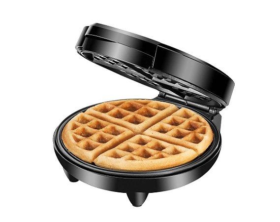 Máquina de Waffle Mondial Pratic Waffle 1200W GW-01 Preto e Inox - 127V