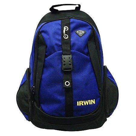 "Mochila Irwin para Ferramentas 14"" - Azul e Preta"