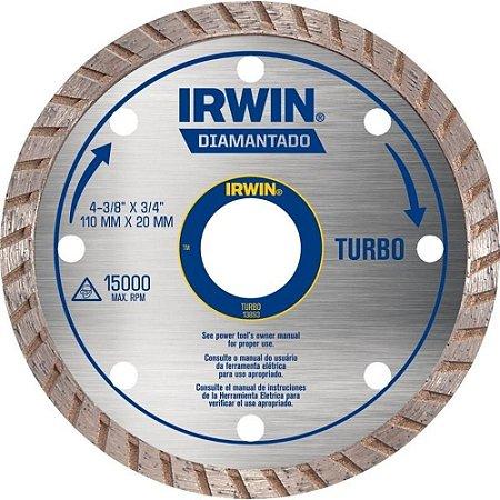 Disco de Corte Diamantado Irwin 4.3/8 Pol Turbo 110x20mm