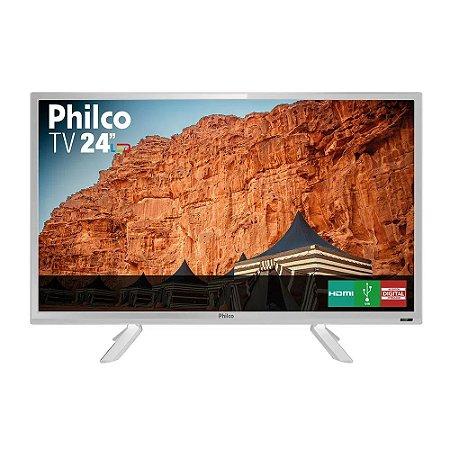 "TV Branca Led HD 24"" Philco PTV24C10DB Bivolt"